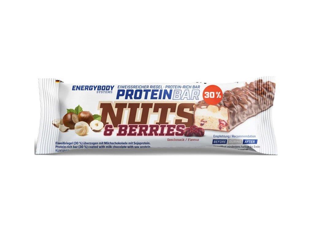 EnergyBody Tyčinka Nuts & Berries 50g