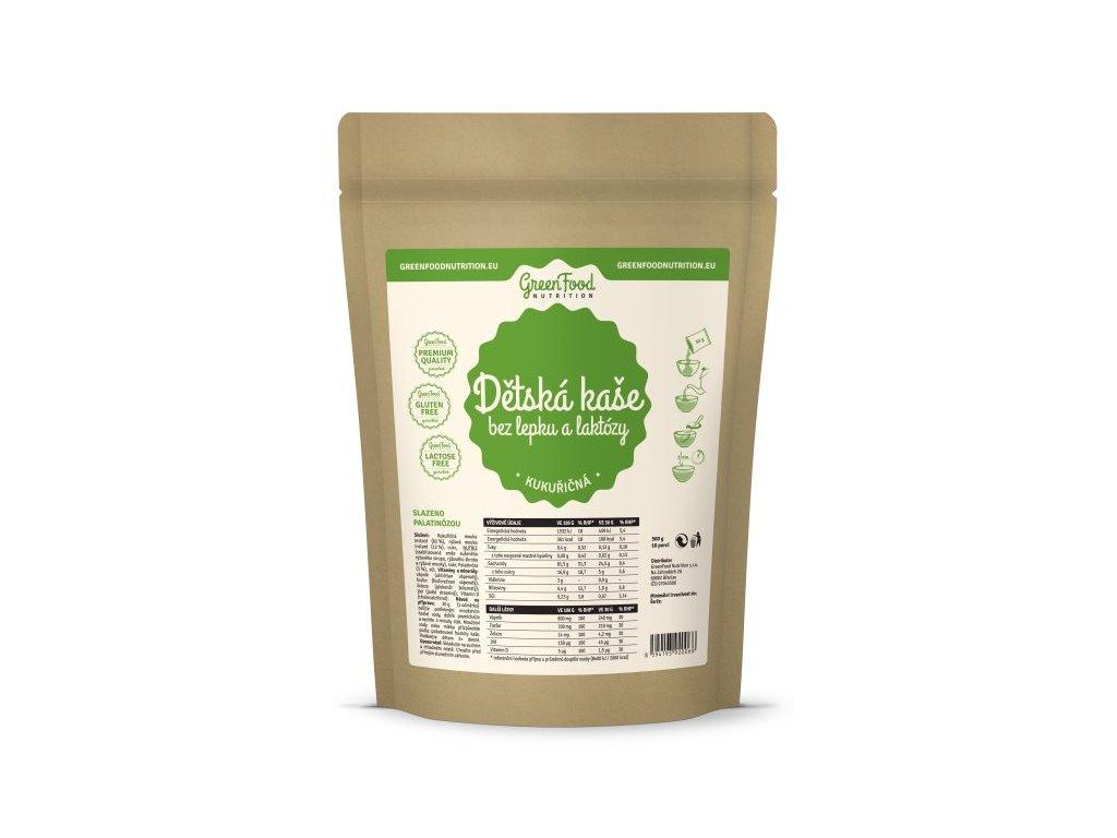 GreenFood Dětská kaše bez lepku a laktózy kukuřičná 500 g