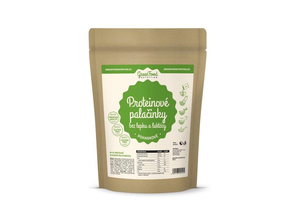 GreenFood Proteinové palačinky bez lepku a laktózy pohankové 500 g
