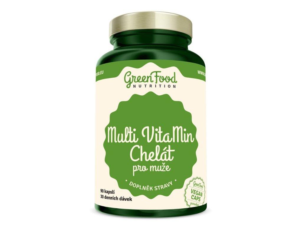 GreenFood Multi VitaMin Chelát pro muže 90kapslí
