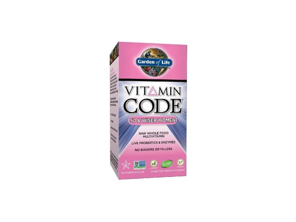 Garden of Life Vitamin Code 50 - pro ženy po padesátce 120kapslí