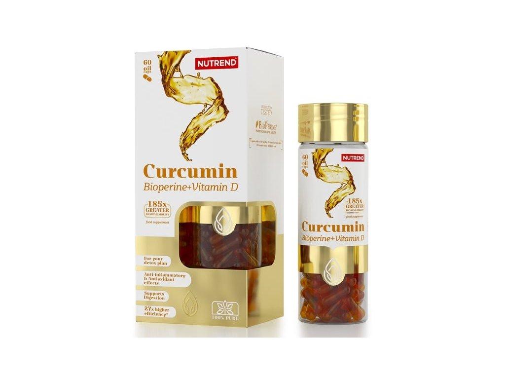 Nutrend Curcumin + Bioperine + Vitamin D 60kapslí