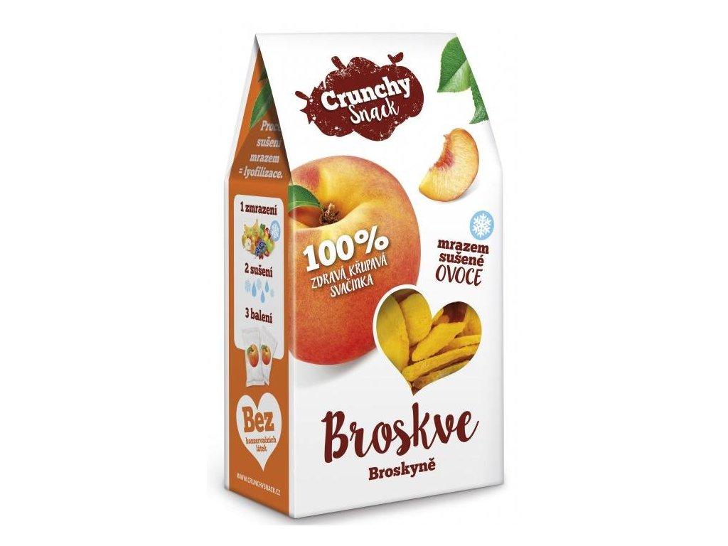 Royal Pharma Crunchy snack Mrazem sušené broskve 15g
