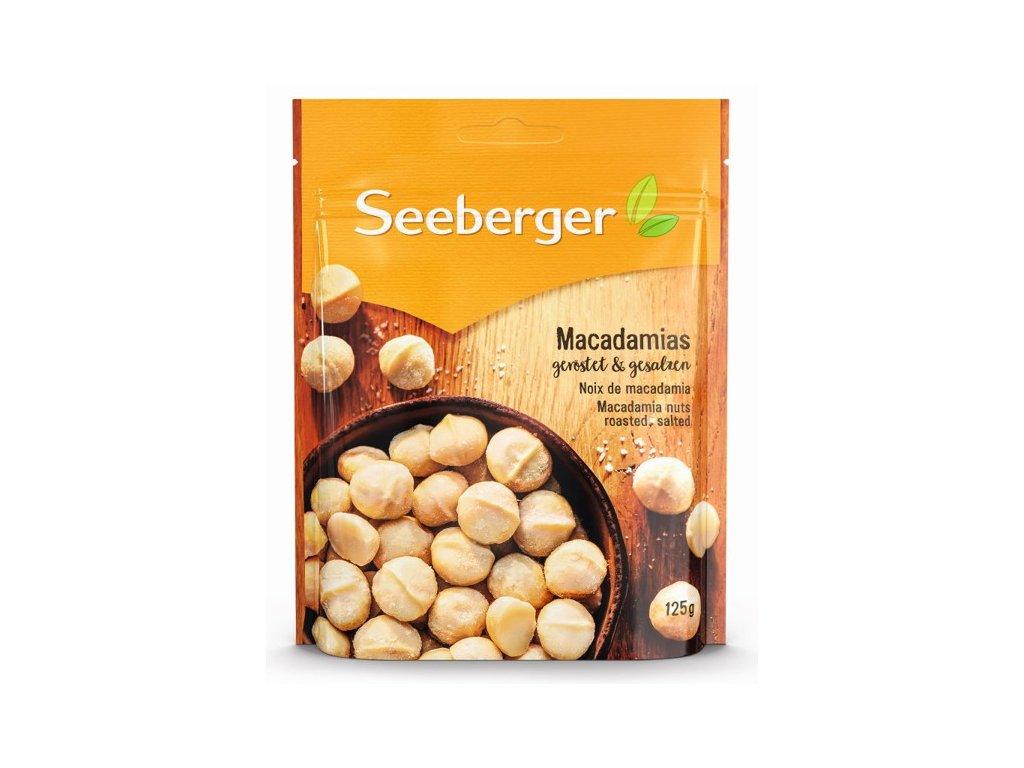 Seeberger Sušené pražené a solené jádra makadamových ořechů 125g