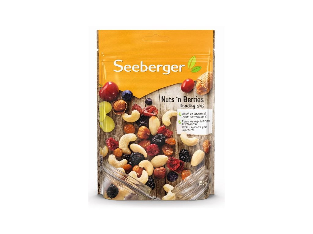 Seeberger Směs ořechů (50%) a sušeného ovoce (50%), částečně slazené 150g