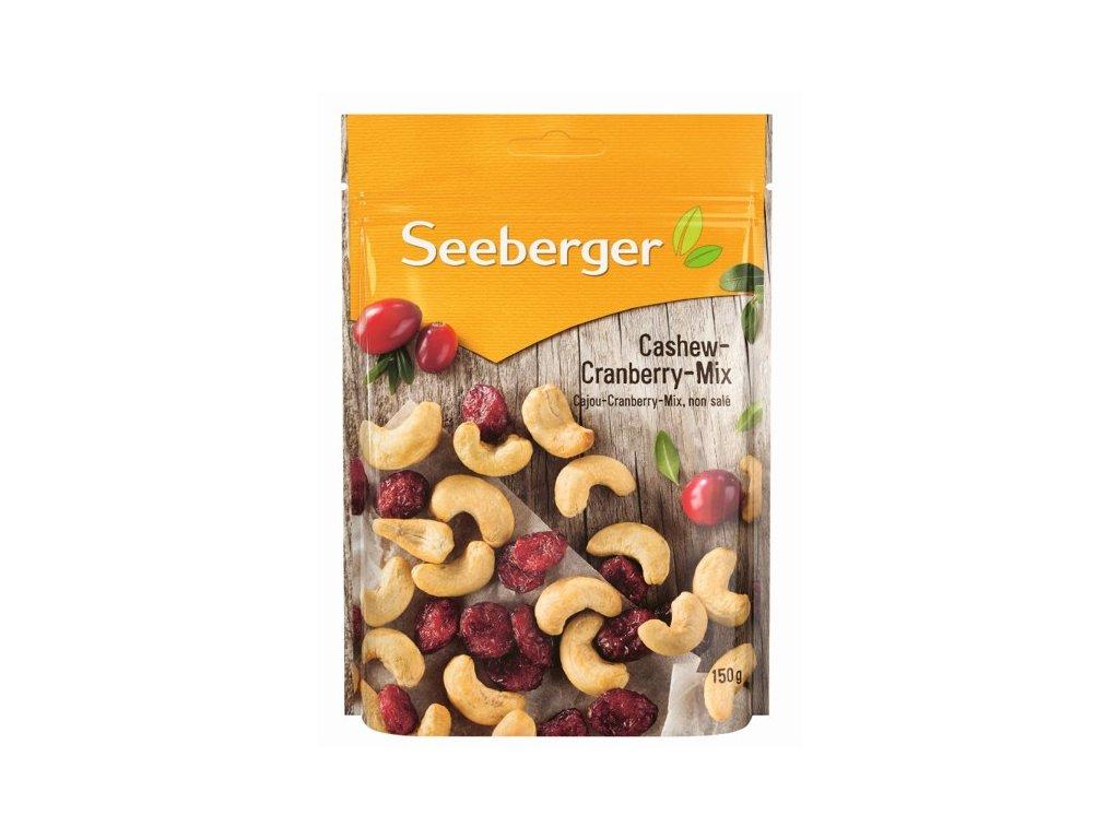 Seeberger Směs pražených kešu ořechů (60%) a brusinek (40%) 150g
