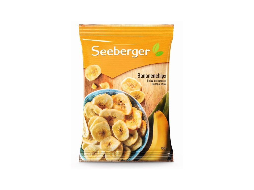 Seeberger Slazené banánové plátky 150g