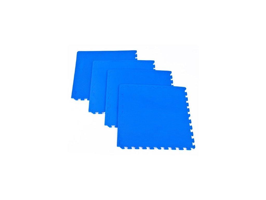 Spokey Scrab puzzle podložka pod fitness vybavení 4 kusy modrá