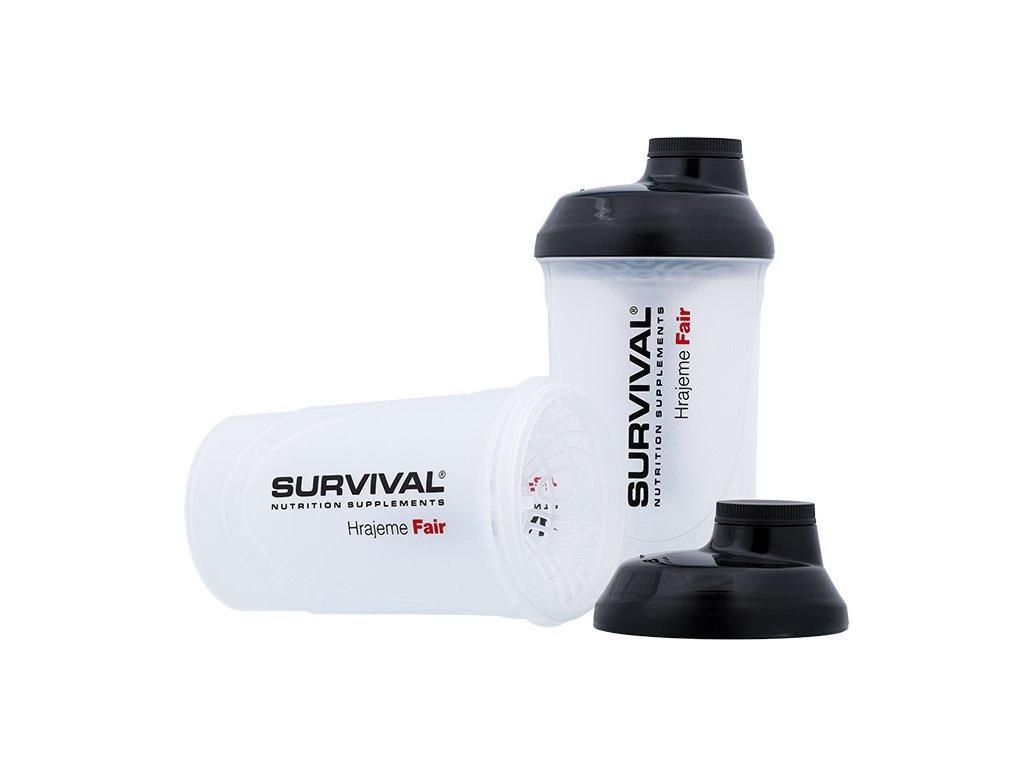 Survival Šejkr průhledný 600 ml