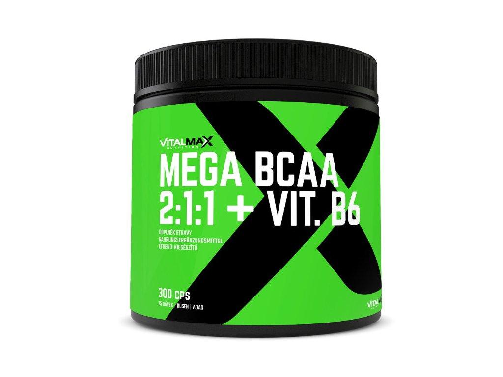 Vitalmax Mega BCAA 2:1:1 + B6 300kapslí