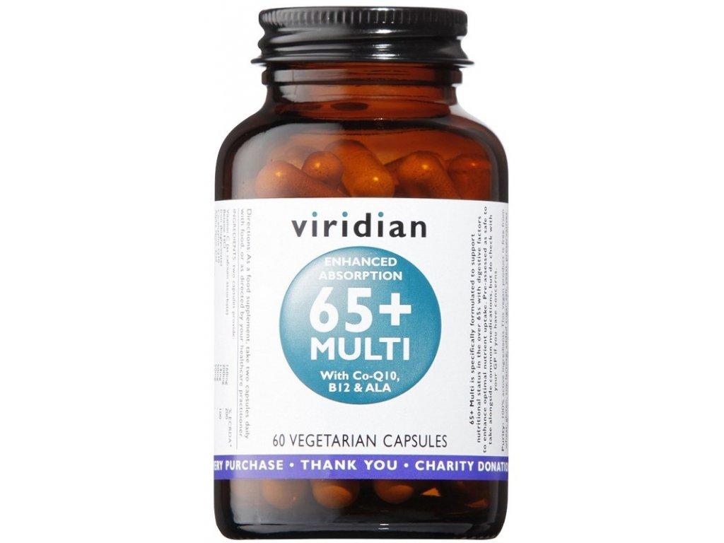 Viridian 65+ Multi (Natural multivitamín pro seniory) 60kapslí