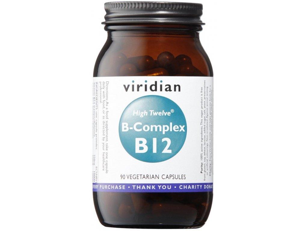 Viridian B-Complex B12 High Twelve 90kapslí
