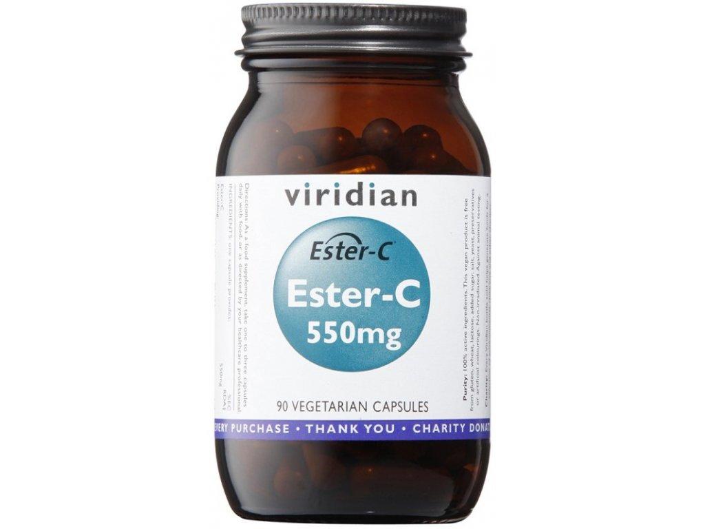 Viridian Ester-C 550mg (Vitamín C 550 mg) 90kapslí