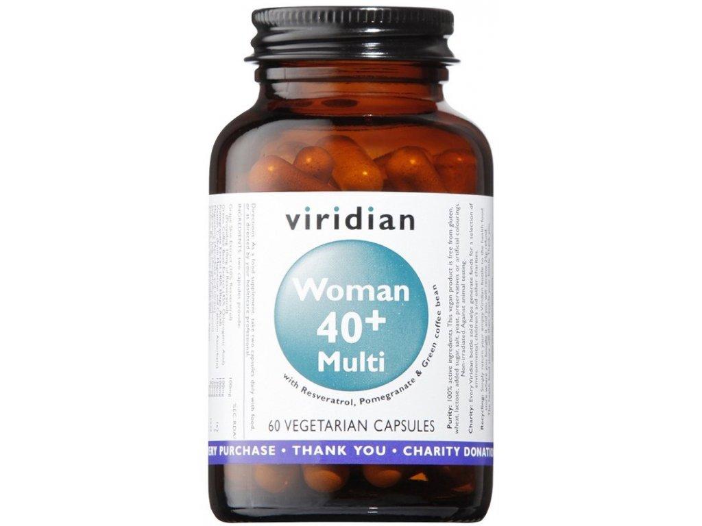 Viridian 40+ Woman Multivitamin (Natural multivitamín pro ženy) 60kapslí