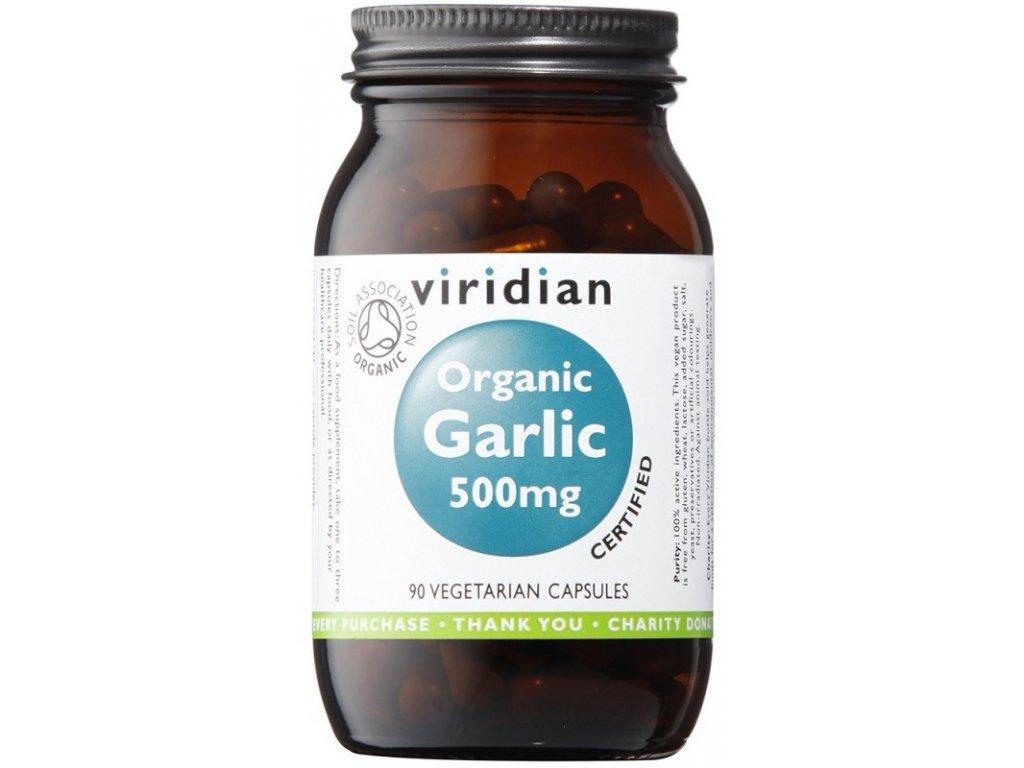 Viridian Organic Garlic 500mg (Česnek) 90kapslí