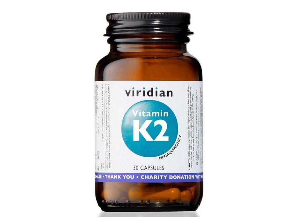 Viridian Vitamin K2 30kapslí