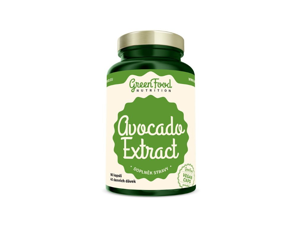 GreenFood Avocado Extract 90 kapslí