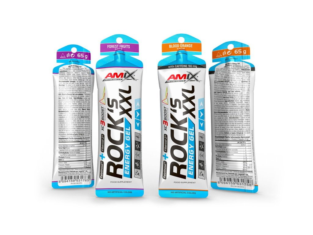 Amix Rock's Energy Gel XXL with Caffeine 65g