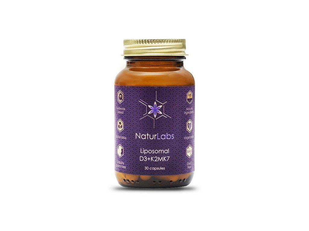 NaturLabs Liposomální vitamín D3 + K2 30kapslí