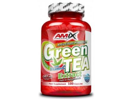 Amix Green Tea Extract with Vitamin C 100kapslí