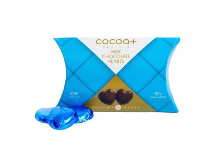 Cocoa+ High Protein Milk Chocolate Hearts 56 g