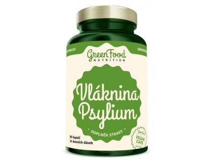 GreenFood Vláknina Psyllium 96 kapslí
