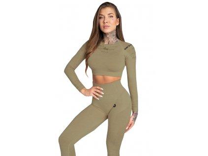 Gym Glamour Crop-Top Combat khaki
