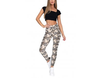 Hugz Jeans Camo Light High Waist Jegging