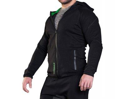 MadMax mikina s kapucí MSW306 černá
