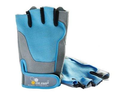 Olimp Fitness One dámské rukavice modré