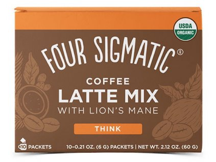 Four Sigmatic Lions Mane Mushroom Coffee Latte Mix 10×6 g