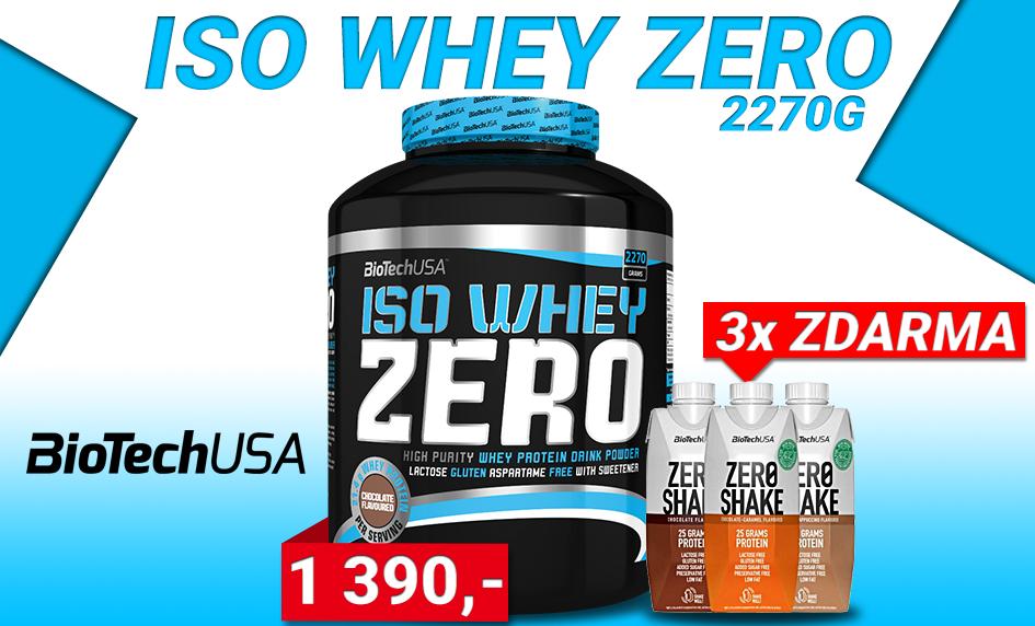 BioTech USA Iso Whey Zero + 3x Shake Zero ZDARMA