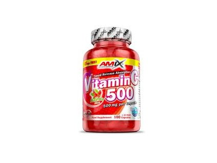 Amix Vitamin C 500mg + Rose Hips 125 kapslí