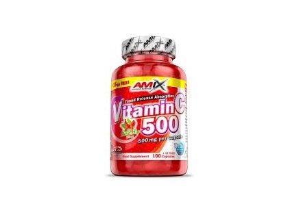 Amix Vitamin C 500mg + Rose Hips 125 kapslí