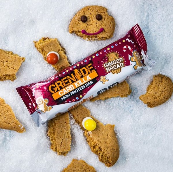 Limitovaná edice Gingerbread oblíbených proteinových tyčinek Grenade Carb Killa