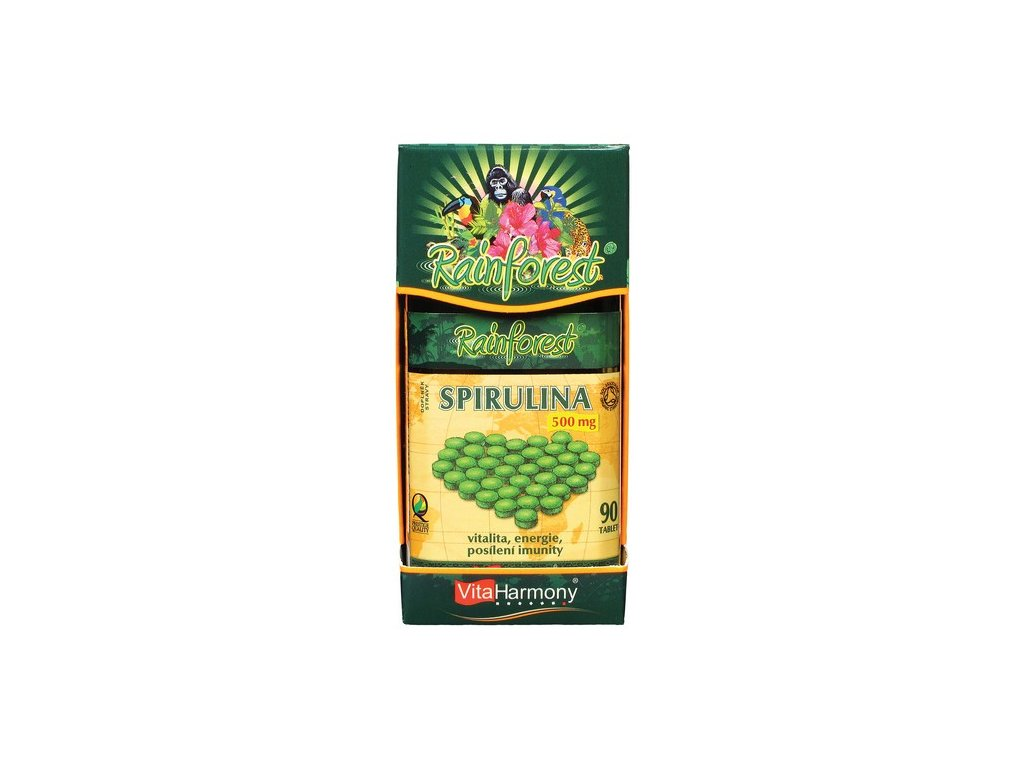 RainForest® spirulina 500 mg - 90 tbl.