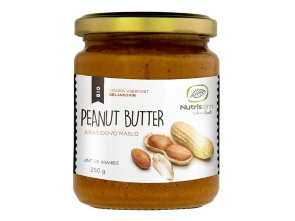 peanut butter arašídové máslo bio nutrisslim