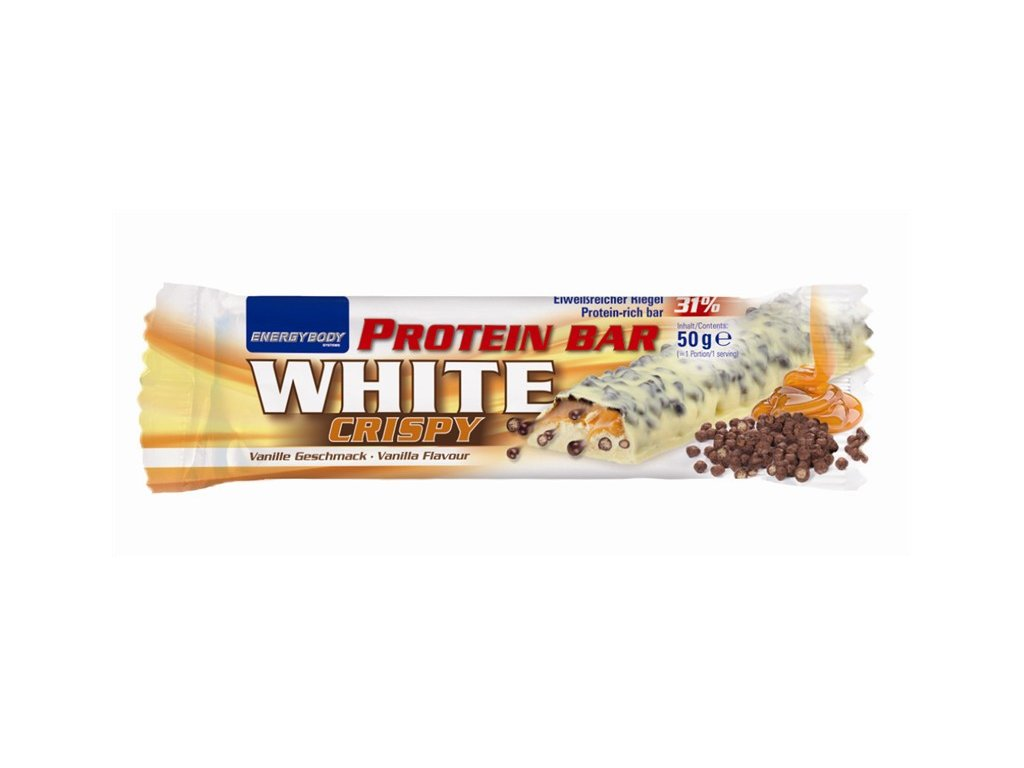 Dummy Riegel Protein Bar White Crispy frei