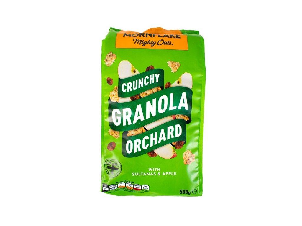 granola jablko rozinky
