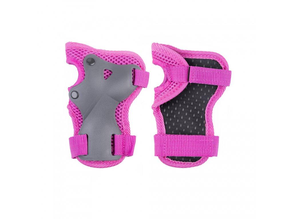 1bdad4183 ... SHIELD cyklistické chrániče pro děti - růžové ...