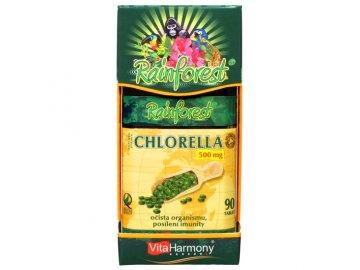 RainForest® Chlorella 500 mg - 90 tbl., 100% organický produkt