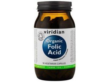 Organic Folic Acid (kyselina listová) 90 kapslí