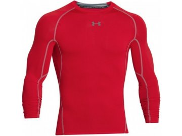 kompresní triko dlouhý rukáv under armour červené
