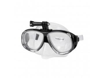 plavecké brýle s úchytem na kameru