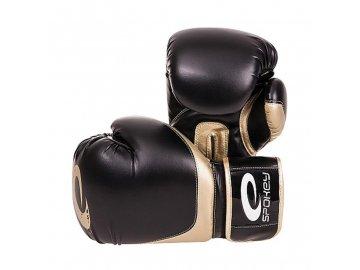 Spokey HANIWA Boxerské rukavice černé 12oz