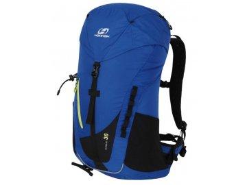 Modrý trekový batoh pro turistiku