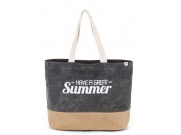 Šedá plážová taška