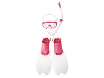 Dětský komplet na potápění - růžový
