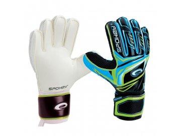 Brankářské rukavice CONTACT II - černo - modrá č. 9