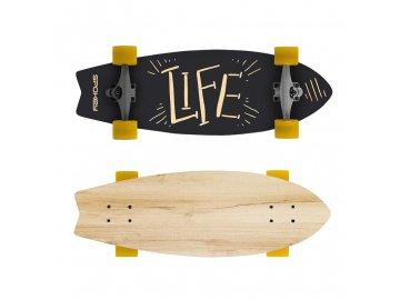 Longboard LIFE  67,5 x 25,5 cm,  ABEC7